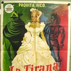 Cine: T00657 LA TIRANA PAQUITA RICO POSTER CIFESA ORIGINAL 70X100 DEL ESTRENO. Lote 8195623
