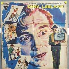 Cine: T00696 EL POBRE GARCIA TONY LEBLANC LINA MORGAN POSTER ORIGINAL 70X100 ESTRENO. Lote 3986348