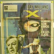 Cine: T00703 EL HOMBRE CON RAYOS X EN LOS OJOS ROGER CORMAN RAY MILLAND POSTER ORIGINAL 70X100 ESTRENO A. Lote 7082892