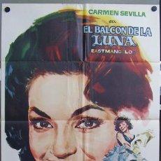 Cine: T00724 EL BALCON DE LA LUNA CARMEN SEVILLA RETRATO JANO POSTER ORIGINAL DEL ESTRENO 70X100. Lote 11864543