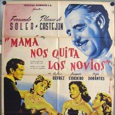Cine: T00799 MAMA NOS QUITA LOS NOVIOS FERNANDO SOLER JUANINO RENAU POSTER ORIGINAL 70X94 MEJICANO. Lote 6076391