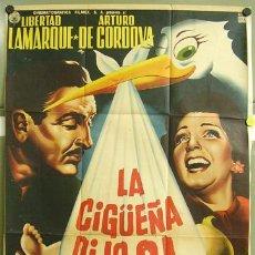 Cine: T00806 LA CIGÜEÑA DIJO SI LIBERTAD LAMARQUE ARTURO DE CORDOVA POSTER ORIGINAL 70X94 MEJICANO. Lote 3993514