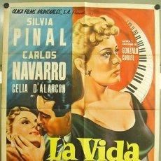 Cine: T00810 LA VIDA TIENE 3 DIAS SILVIA PINAL POSTER ORIGINAL 70X94 MEJICANO. Lote 3993608