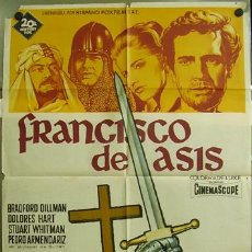 Cine: T00898 FRANCISCO DE ASIS POSTER DE SOLIGO ORIGINAL 70X100 DEL ESTRENO LITOGRAFIA. Lote 3999104