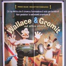 Cine: T00970 WALLACE Y GROMIT AARDMAN ANIMACION POSTER ORIGINAL 100X140 ITALIANO. Lote 3999198