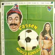 Cine: T00947 FURIA ESPAÑOLA CASSEN BETRIU FC BARCELONA FUTBOL POSTER ORIGINAL 70X100 DEL ESTRENO. Lote 4002358