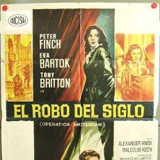 Cine: T00860 EL ROBO DEL SIGLO PETER FINCH EVA BARTOK SOLIGO POSTER ORIGINAL 70X100 ESPAÑOL. Lote 4003993