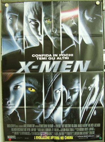 T01005 X-MEN HALLE BERRY MARVEL POSTER ORIGINAL ITALIANO 100X140 (Cine - Posters y Carteles - Ciencia Ficción)