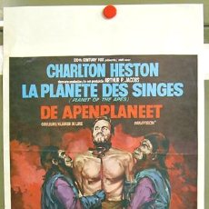 Cine: VY09D EL PLANETA DE LOS SIMIOS CHARLTON HESTON POSTER ORIGINAL BELGA 35X55. Lote 6220689