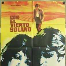 Cine: T01118 CON EL VIENTO SOLANO IMPERIO ARGENTINA ANTONIO GADES POSTER ORIGINAL 70X100 DEL ESTRENO. Lote 10562685
