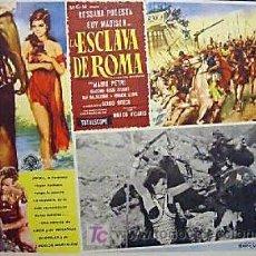 Cine: PEPLUM - ROSSANA PODESTA - LA ESCLAVA DE ROMA - GUY MADISON - ORIGINAL MEXICAN LOBBY CARD. Lote 13843426