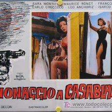 Cine: T01252 NOCHES DE CASABLANCA SARA MONTIEL POSTER ORIGINAL ITALIANO 47X68 D. Lote 4128542