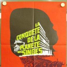 Cine: T01284 LA REBELION DE LOS SIMIOS CONQUEST OF THE PLANET OF THE APES POSTER ORIGINAL FRANCES 78X58. Lote 4135611