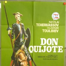 Cine: T01312 DON QUIJOTE DE LA MANCHA NICOLAI TCHERKASSOV VERSION RUSA POSTER ORIGINAL 70X100 DEL ESTRENO. Lote 18617642
