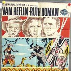Cine: XH85D TANGANICA VAN HEFLIN RUTH ROMAN POSTER ORIGINAL 70X100 DEL ESTRENO LITOGRAFIA. Lote 10798654