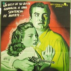 Cine: WQ27D EL BESO DE LA MUERTE VICTOR MATURE POSTER ORIGINAL 70X100 DEL ESTRENO LITOGRAFIA. Lote 17136781