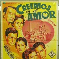 Cine: T01404 CREEMOS EN EL AMOR JEAN PETERS SOLIGO POSTER ORIGINAL 70X100 ESTRENO LITOGRAFIA. Lote 19448142