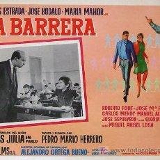Cine: CINE ESPAÑOL - LA BARRERA - CARLOS ESTRADA - MARIA MAHOR - JOSE BODALO ORIGINAL MEXICANO LOBBY CARD . Lote 14811431