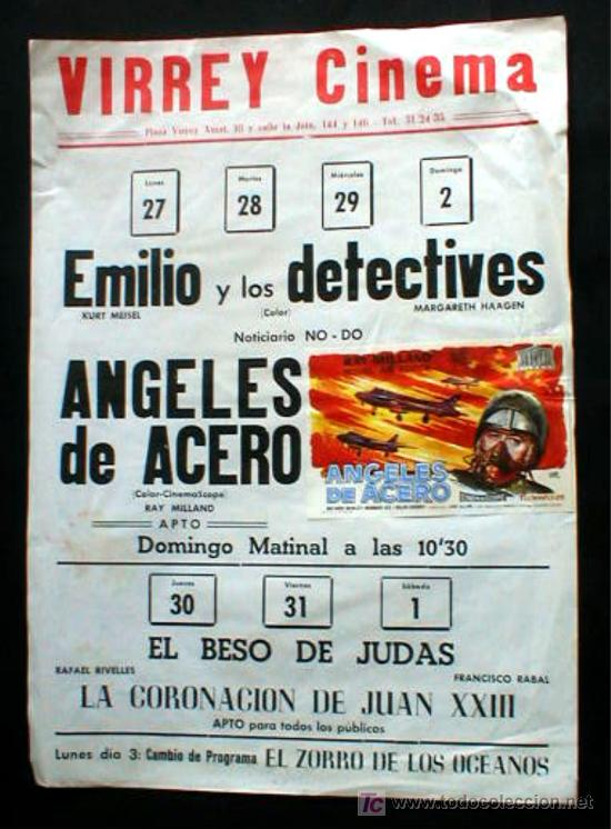 VIRREY CINEMA. ANTIGUO. MUY ORIGINAL... ENVIO GRATIS¡¡¡ (Cine - Posters y Carteles - Bélicas)