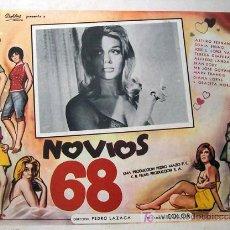 Cine: NOVIOS 68 - SONIA BRUNO - PEDRO LAZAGA - IRAN EORY - ALFREDO LANDA - ORIGINAL MEXICANO LOBBY CARD. Lote 14290090