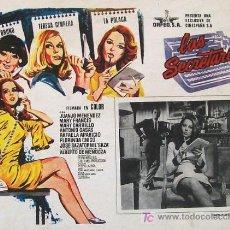 Cine: PEDRO LAZAGA - LAS SECRETARIAS - SONIA BRUNO - TERESA GIMPERA - SAZA - ORIGINAL MEXICANO LOBBY CARD. Lote 15267968