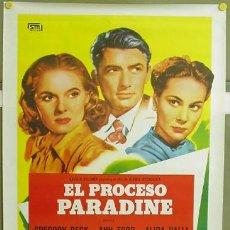 Cine: T01497 EL PROCESO PARADINE ALFRED HITCHCOCK GREGORY PECK ALIDA VALLI POSTER ORIGINAL 70X100 ESPAÑOL. Lote 4265355