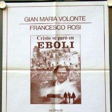 Cine: T01502 CRISTO SE PARO EN EBOLI FRANCESCO ROSI VOLONTE POSTER ORIGINAL 49X66 DEL ESTRENO. Lote 4271428