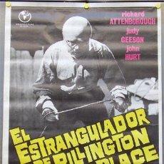 Cine: T01532 EL ESTRANGULADOR DE RILLINGTON PLACE RICHARD ATTENBOROUGH POSTER ORIGINAL 70X100 DEL ESTRENO. Lote 4291358