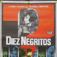 Cine: T01533 DIEZ NEGRITOS SHIRLEY EATON AGATHA CHRISTIE POSTER ORIGINAL 70X100. Lote 4291359