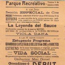 Cine: LA LEYENDA DEL SAUCE PRODUCCION ESPECIAL DE LA MARCA METRO. Lote 4309784