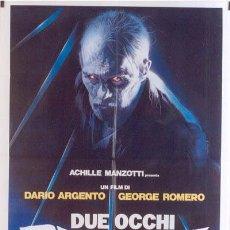 Cine: T01619 LOS OJOS DEL DIABLO GEORGE ROMERO DARIO ARGENTO POSTER ORIGINAL 100X140 ITALIANO. Lote 10889677