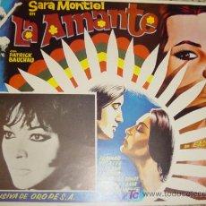 Cine: SARA MONYIEL CARTELERA MEXICANA DEL FILM LA AMANTE (VARITES). Lote 4323129