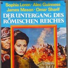 Cine: VU94D CAIDA DEL IMPERIO ROMANO SOFIA LOREN ANTHONY MANN ALEC GUINNESS POSTER ORIGINAL ALEMAN 60X84. Lote 4355606