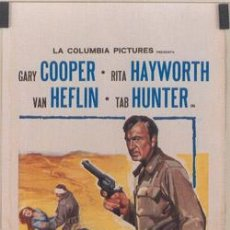 Cine: SH62 CORDURA GARY COOPER RITA HAYWORTH POSTER ORIGINAL 33X70 ITALIANO. Lote 4362379