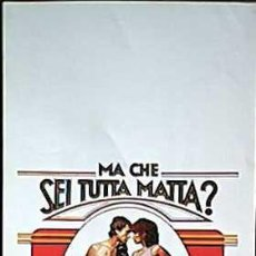 Cine: SH69 COMBATE DE FONDO BARBRA STREISAND BOXEO POSTER ORIGINAL 33X70 ITALIANO. Lote 4362386