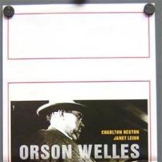 Cine: SH73 SED DE MAL ORSON WELLES CHARLTON HESTON POSTER ORIGINAL 33X70 ITALIANO. Lote 4362394
