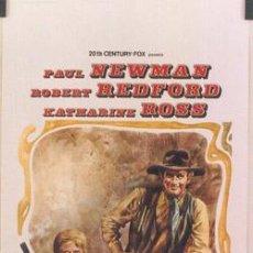 Cine: T01712 DOS HOMBRES Y UN DESTINO PAUL NEWMAN ROBERT REDFORD POSTER ORIGINAL 33X70 ITALIANO. Lote 5415223