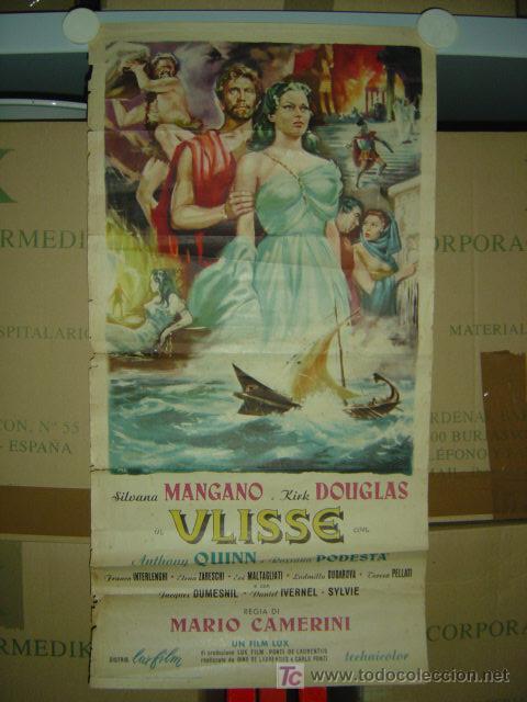 ULISSE (ULISES) - KIRK DOUGLAS, SILVANA MANGANO - ANTHONY QUINN - CARTEL ITALIANO - 1954 (Cine - Posters y Carteles - Aventura)