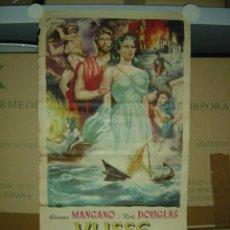 Cine: ULISSE (ULISES) - KIRK DOUGLAS, SILVANA MANGANO - ANTHONY QUINN - CARTEL ITALIANO - 1954. Lote 27530173