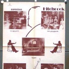 Cine: SH78 ALFRED HITCHCOCK FESTIVAL ETAPA INGLESA POSTER ORIGINAL 70X100 ESTRENO. Lote 4402991