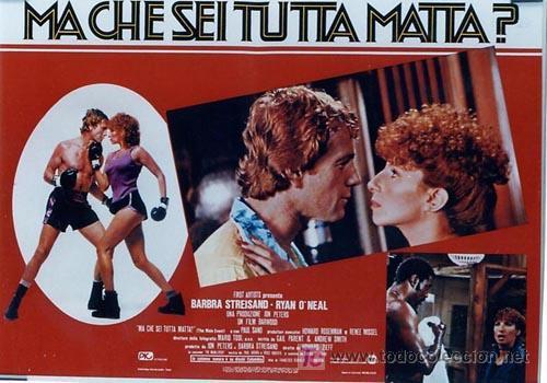 Cine: SH96 COMBATE DE FONDO BARBRA STREISAND SET DE 10 POSTERS ORIGINAL ITALIANO 47X68 - Foto 3 - 4402986