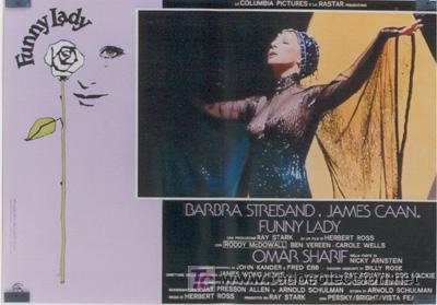 VX10D FUNNY LADY BARBRA STREISAND SET DE 8 POSTERS ORIGINAL ITALIANO 47X68 (Cine - Posters y Carteles - Musicales)