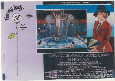 Cine: VX10D FUNNY LADY BARBRA STREISAND SET DE 8 POSTERS ORIGINAL ITALIANO 47X68 - Foto 3 - 4402974