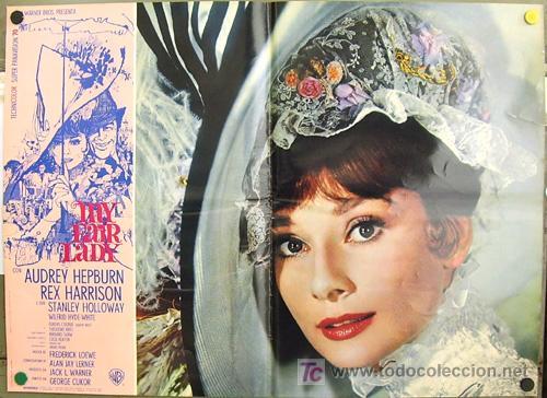 T01772 MY FAIR LADY AUDREY HEPBURN ESPECTACULAR SET COMPLETO DE 14 POSTERS ORIGINAL ITALIANO (Cine - Posters y Carteles - Musicales)
