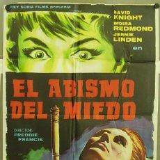 Cine: T01840 EL ABISMO DEL MIEDO HAMMER FREDDIE FRANCIS POSTER ORIGINAL 70X100 DEL ESTRENO. Lote 10843685