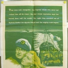 Cine: T01870 EL ZORRO DE LOS OCEANOS JOHN WAYNE LANA TURNER POSTER ORIGINAL USA 70X105. Lote 4572014