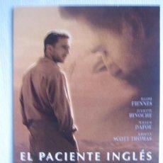 Cinema: EL PACIENTE INGLES - POSTER CARTEL ORIGINAL - RALPH FIENNES THE ENGLISH PATIENT KRISTIN SCOTT THOMAS. Lote 4577922