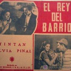 Cine: TIN TAN - SILVIA PINAL - EL REY DEL BARRIO - ORIGINAL MEXICANO LOBBY CARD. Lote 14442542