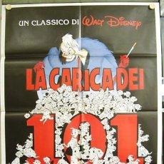 Cine: T01003 101 DALMATAS WALT DISNEY DIBUJOS POSTER ORIGINAL ITALIANO 100X140. Lote 4695772