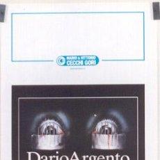 Cine: SF26 OPERA DARIO ARGENTO TERROR POSTER ORIGINAL ITALIANO 33X70. Lote 4696428
